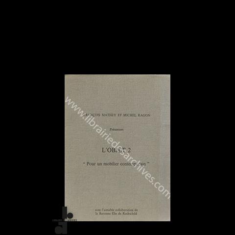 L\'objet 2 : « Pour un mobilier contemporain » - Librairie des ...